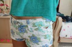 floral hollister shorts. ♡
