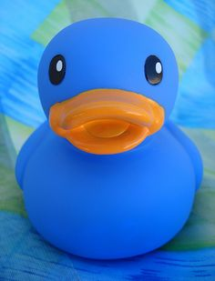 Two of my favorite things a rubber duckie and it's blue, my favorite color!!  :D