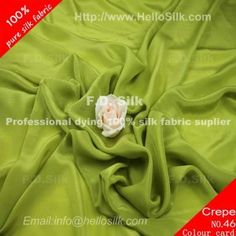http://www.silkfabricwholesale.com/14mm-silk-crepe-de-chine-fabric-yellow-green.html      F.D. silk most professional 14mm silk crepe de chine fabric-yellow green supplier.