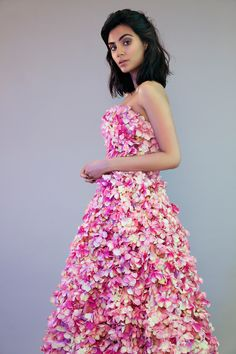 Actress Aiysha Hart photographed by Rossella Vanon. Floral fashion editorial.