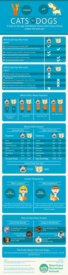 Cats vs Dogs: Which Pet is Superior? - Infographic - Answer: Dogs :)