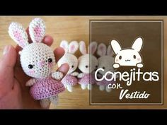 Today we will show you how to make crochet bunnies. The bunnies are super cute and easy to crochet! You can make them as a gift for someone special – they are also saved for children! Amigurumi Sweet Crocheted Bunnies with Cute Dresses with Written C Crochet Rabbit, Crochet Beanie Pattern, Easy Crochet Patterns, Crochet Patterns Amigurumi, Crochet Dolls, Amigurumi Doll, Knitting Videos, Crochet Videos, Easter Crochet