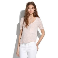 Daily crave: the softest tee EVER! The Drape Pocket Tee from Madewell