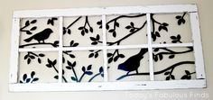 Vinyl cut-outs update old window frame