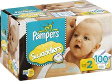 Pampers Swaddlers Sesame Beginnings Diapers Size 2 (12-18 lbs)