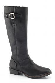 BOOGALOO shoes -36117  Кожна чизма со страничен патент. Удобна, лесно прилоагодлива ширина на листот и иделана за секое стапало. Производство на Ivancica- Р Хрватска  http://shopping.tc.mk/zhenski-chizmi/c/167571