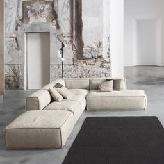 Peanut B design modular sofa characterized by a modern style; wide choice of models and furniture solutions. Design Living Room, Living Room Sofa, Home Living Room, Living Room Decor, Canapé Design, Sofa Design, House Design, Modern Design, Sofa Furniture