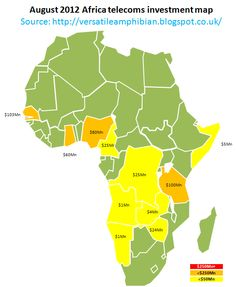 $430Mn of new investment in African telecoms boosts 2012 total to $8.5Bn