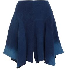 Maiyet     Draped Short ($525) ❤ liked on Polyvore featuring shorts, navy, relaxed shorts, relaxed fit shorts, maiyet, drapey shorts and short shorts