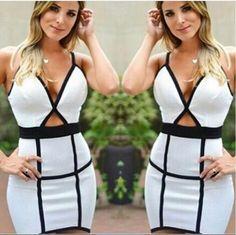 Vestido Bicolor - Look Store