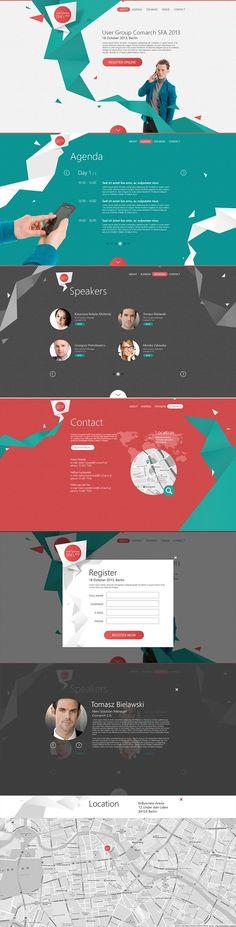 Webdesign Schweiz | Jetzt kostenlose Offerte anfordern http://www.swisswebwork.ch User Group SFA 2013 by Leszek Jędraszczak, via Behance