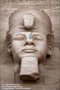 Head of Ramses II on Abu Simbel, Egypt.