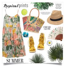 """""""Hot Tropics"""" by anchilly23 ❤ liked on Polyvore featuring Dorothy Perkins, Nearly Natural, Gottex, Vince Camuto and Tory Burch"""