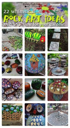 I love the playfulness of rock art! How cute are these rock art ideas for your garden?