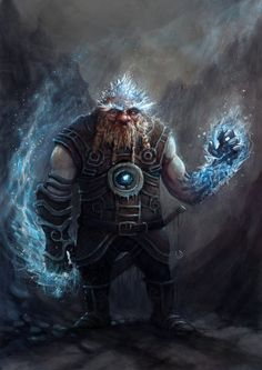 Dwarven Frost Wizard - concept art by Mr-Werewolf-Art #conceptart- More Character Designs at Stylendesigns.com!