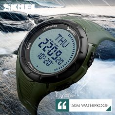 SKMEI Men Sports Watches World Time Compass Countdown Wristwatches 50M Waterproof 3 Alarm Digital Watch Automatic Army Military #Sports watches http://www.ku-ki-shop.com/shop/sports-watches/skmei-men-sports-watches-world-time-compass-countdown-wristwatches-50m-waterproof-3-alarm-digital-watch-automatic-army-military/