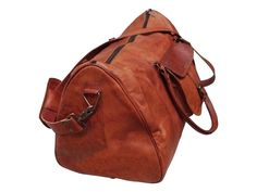 Men s genuine Leather large Triangle duffel travel gym weekend overnight bag  New 711f5557550fc