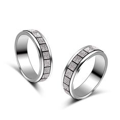 Fashion Forefinger Frosted Simple Couple Rings