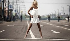 #street #streetfashion #fashion #whitedress #beautiful #blonde #hair