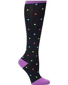 Nurse Mates Women's Compression Trouser Sock Bright - Best Compression Socks for Nurses and Nursing Students affiliate