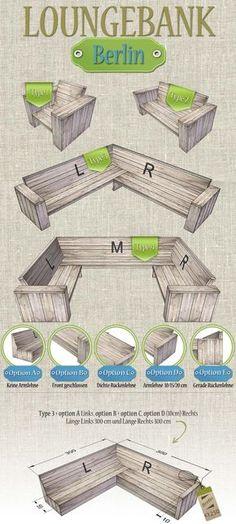 Bauholz Lounge bank 'Berlin'. Das Bauholz (Gerüstholz) das wir verwenden, sind Recycled Bauholzbretter. Wir stellen unsere Bauholz-Möbel aus verwendeten und neuen Bauholz her. Bauholz bekommt beim Hausundgartenmoebel.com ein zweites Leben! Die Optik von ein BauholzMöbel ist rustikal, back-to-basic und autentisch. www.hausundgartenmoebel.com