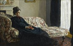 Claude Monet Meditation, Mrs Monet Sitting on a Sofa 1871 musée d'Orsay, Paris, France copyright photo musée d'Orsay / rmn