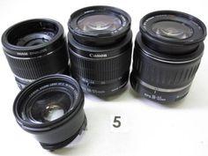 5L101DC CANON 18-55mm F3.5-5.6 レンズまとめて3本 ジャンク_画像1