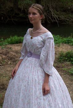1860's Teen Sheer Dress  (good for day or night)