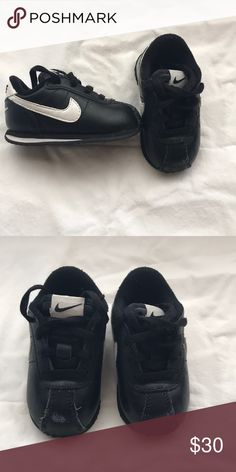 822d80ae7 Baby Nike Cortes. Black and white baby shoes Black Nike cortes. Baby size 4c
