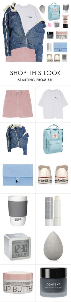"""「46.」"" by moonbeam-s ❤ liked on Polyvore featuring Y/Project, Fjällräven, Dora, Converse, Pantone, Korres, LEXON, beautyblender, Context and NYX"
