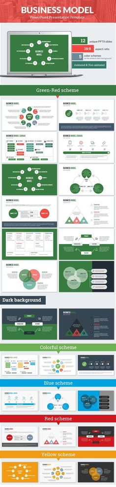 Business infographic : Business Model PowerPoint Presentation Template
