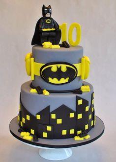 lego inspired bat cake