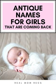 Do you love the sound of old-fashioned, retro baby girl names? These adorable antique baby names are climbing up the charts once again in What's old is new again with these old fashioned baby names for girls. Old Fashioned Female Names, Old Female Names, Old Names, Cool Baby Names, Baby Girl Names, Baby Names And Meanings, Names With Meaning, Middle Names For Girls