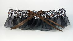 Black Organza Garter w/ Animal Print