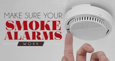 Test Your Smoke Alarms Monthly. #HomeHeating #Safety
