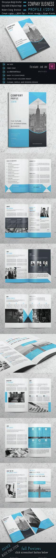 Tri-fold Brochure 9 brochure, brohure, card, clean, corporate - company business profile template