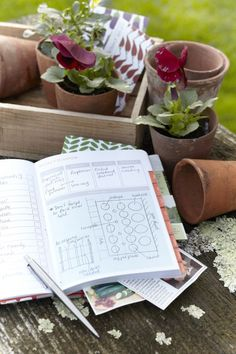 Gardener's Journal Next year you will be so glad that you made a gardener's journal.