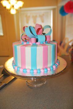 Gender Reveal Cake / Cake from Dream Cakes, Inc.
