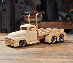 Woodworking Toys, Woodworking Projects Diy, Diy Projects, 1956 F100, Making Wooden Toys, Wooden Truck, Toy Trucks, Wooden Puzzles, Wood Toys