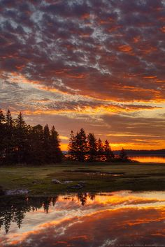 Sunset at Acadia National Park, Maine
