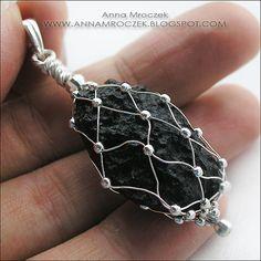 .• Anna Mroczek - Exclusive Wire Wrapped Jewelry • . : Raw stones