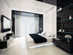 déco noir et blanc elegante chambre
