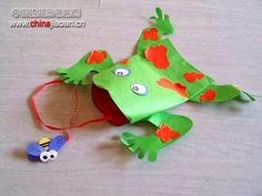 paper puppet crafts ideas and projects for kids - paper puppet Paper Crafts For Kids, Easy Crafts For Kids, Summer Crafts, Art For Kids, Craft Projects For Kids, Craft Activities For Kids, Craft Ideas, Frog Crafts, Paper Puppets