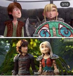 Nothing has changed except that Astrid's become kinder 🙂<<<< the kind of animation. Httyd Dragons, Dreamworks Dragons, Httyd 3, Dreamworks Animation, Disney And Dreamworks, Heros Disney, Disney Movies, Jack Frost, Hicks Und Astrid