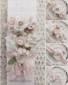 Size | Newborn to AdultColor | Tea Rose/Cream/Green Details | Set of four tiebacks Care | Spot cleanNote | Product intended as a photo prop. Do not leave baby unattended.Photo | Ama Bella Rosa