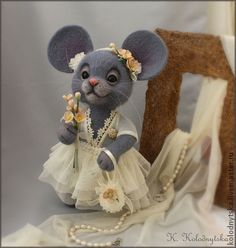 "Toy animals, handmade.  Fair Masters - handmade Mouse ""Dasha"".  Handmade."