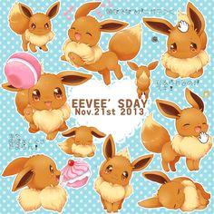 Eevee is day Umbreon And Espeon, Pokemon Eeveelutions, Eevee Evolutions, Pokemon Firered, Cute Pokemon, Pikachu, Eevee Cute, Pokemon Stuff, Eevee Wallpaper