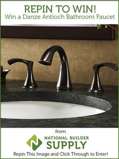 **This giveaway is now closed. Congratulations to our winners!** Win a Danze Antioch Bathroom Faucet from National Builder Supply! Many will enter, TWO will win! Giveaway ends 5/29/13. Good luck! Enter here: http://www.nationalbuildersupply.com/FbookContest/default.html