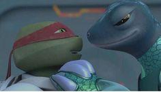 TMNT  Raphael & Mona Lisa together.