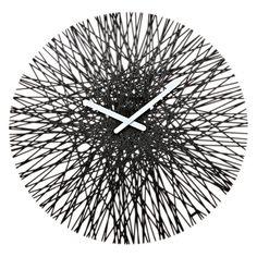 Часы настенные silk, чёрные